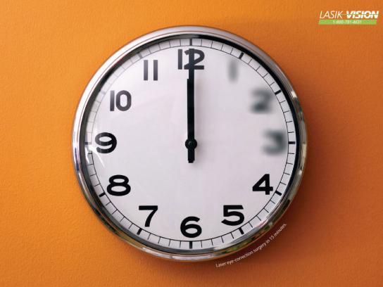 Lasik Print Ad -  Clock