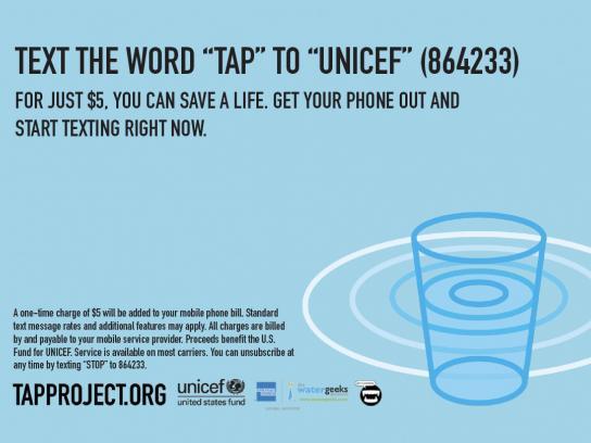 Unicef Direct Ad -  Postcard