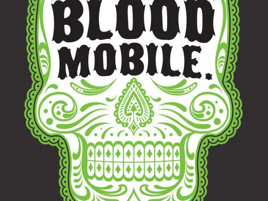 Latin Wagon Print Ad -  Blood mobile