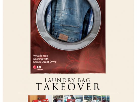 LG Direct Ad -  Laundry Bag Takeover