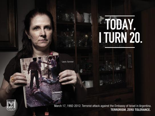 Embassy of Israel Print Ad -  Survivors 20 Years Later, Laura