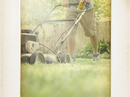 Shiner Bock Print Ad -  Lawn Mower