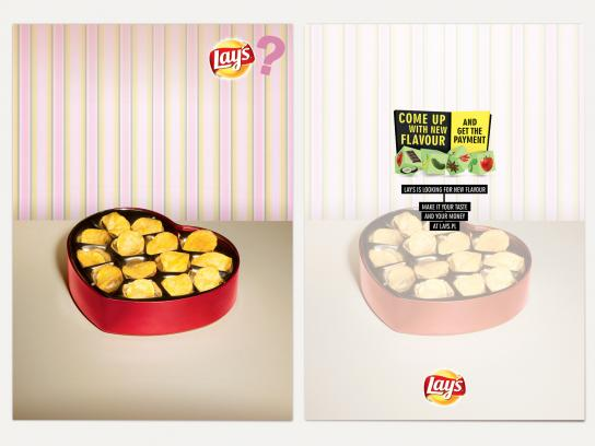 Lay's Print Ad -  Cards, Chocolates