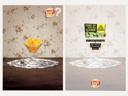 Lay's Print Ad -  Cards, Ice-cream