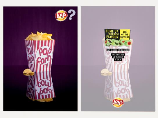 Lay's Print Ad -  Cards, Popcorn