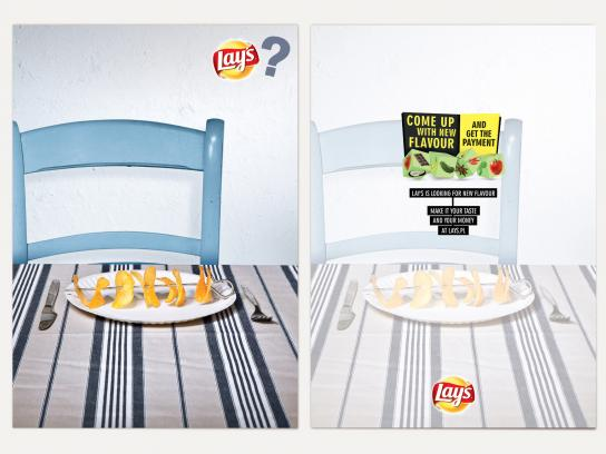 Lay's Print Ad -  Cards, Shish Kebab