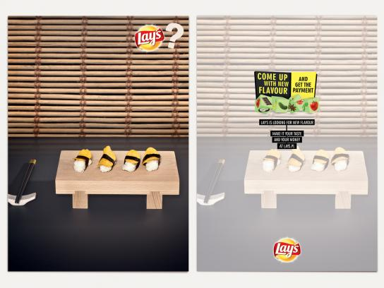 Lay's Print Ad -  Cards, Sushi