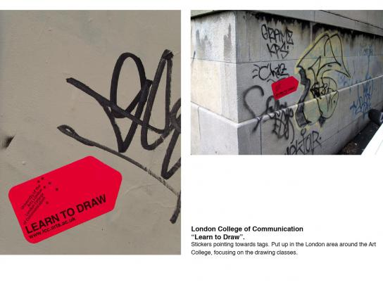 London College of Communication Ambient Ad -  Learn to draw
