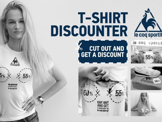 le coq sportif Direct Ad -  T-Shirt Discounter