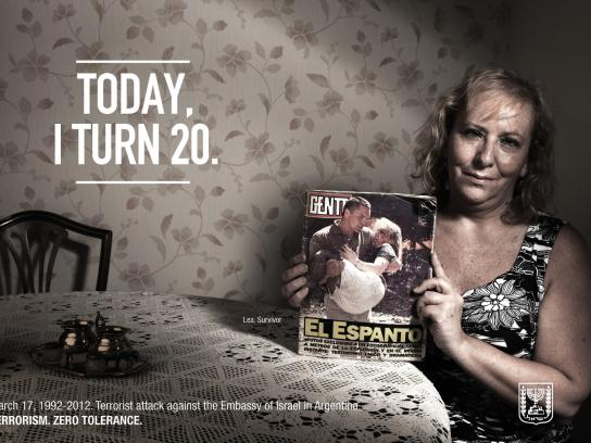 Embassy of Israel Print Ad -  Survivors 20 Years Later, Lea