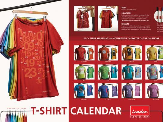 Leader Ambient Ad -  T-shirt Calendar