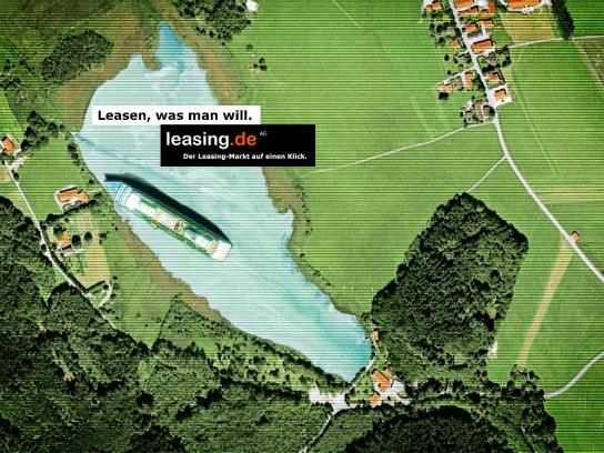 Leasing.de Print Ad -  Lease what you want, Ship