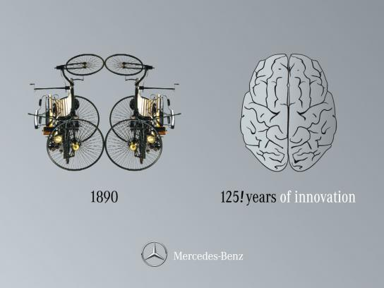Mercedes Outdoor Ad -  Right Brain / Left Brain, 1