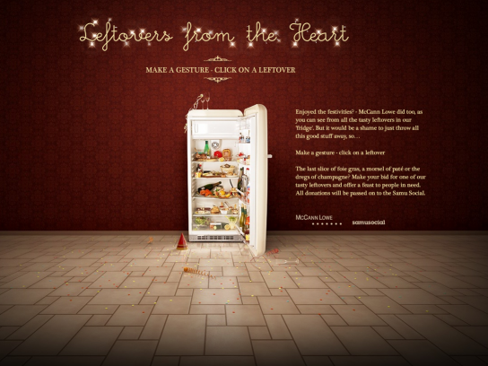 Lowe Digital Ad -  Christmas & New Year action, Leftovers from the heart