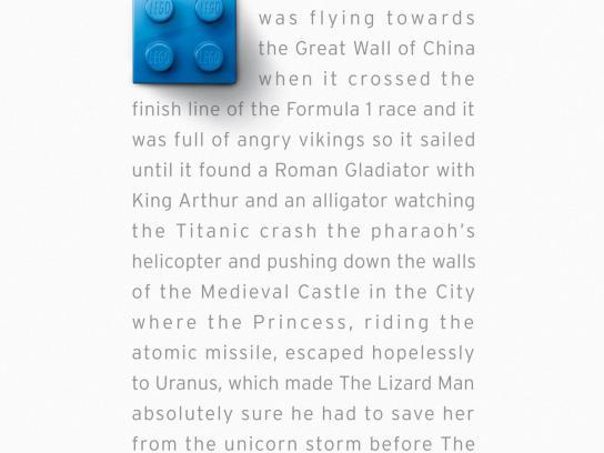 Lego Print Ad -  Blue Brick