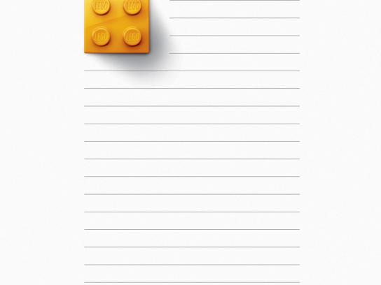 Lego Print Ad -  Yellow Brick