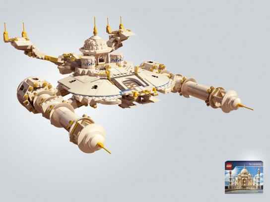 Lego Print Ad -  Taj Mahal