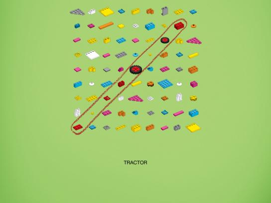 Lego Print Ad -  Words puzzle, Tractor