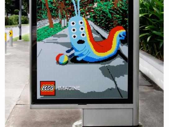 Lego Outdoor Ad -  Caterpillar