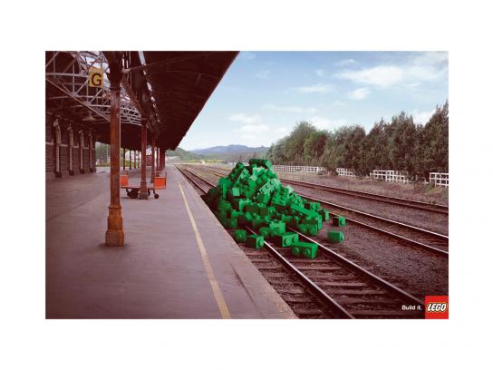 Lego Print Ad -  Train-station