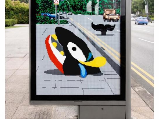 Lego Outdoor Ad -  Whale
