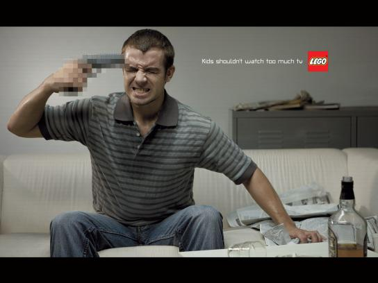 Lego Print Ad -  Violence
