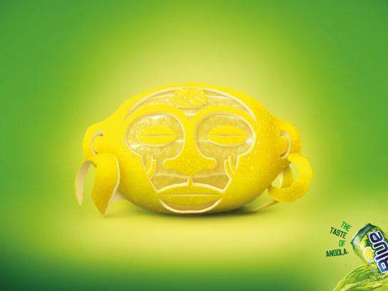 Blue Soft Drink Print Ad -  Lemon