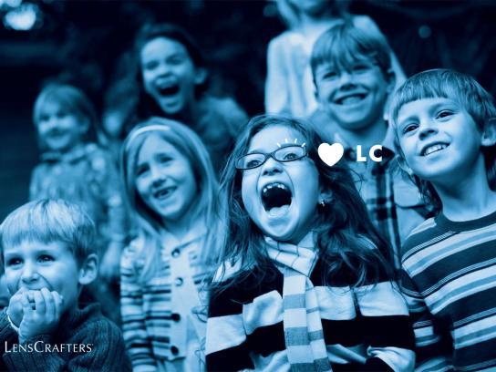 LensCrafters Print Ad -  Kids