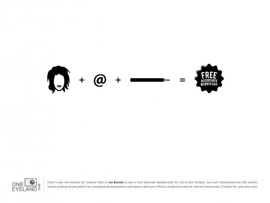One Eyeland Print Ad -  The Formula, Leo Burnett