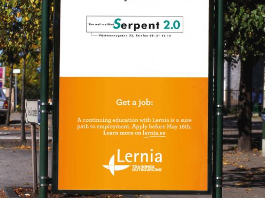 Lernia Outdoor Ad -  Cut your hair and get a job, 3