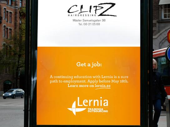 Lernia Outdoor Ad -  Cut your hair and get a job, 2