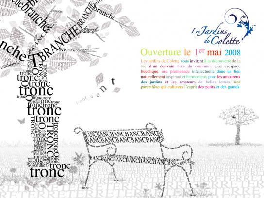 Les Jardins de Colette Print Ad -  Bench