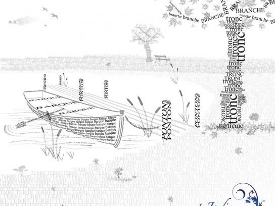 Les Jardins de Colette Print Ad -  Boat