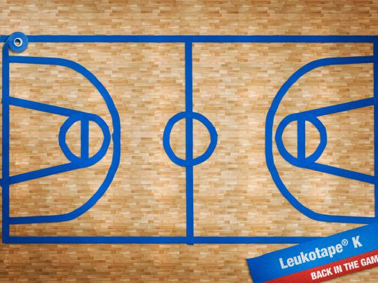 Leukotape K Print Ad -  Basketball