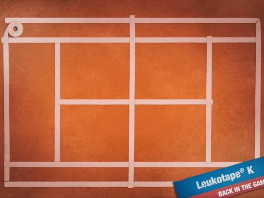 Leukotape K Print Ad -  Tennis