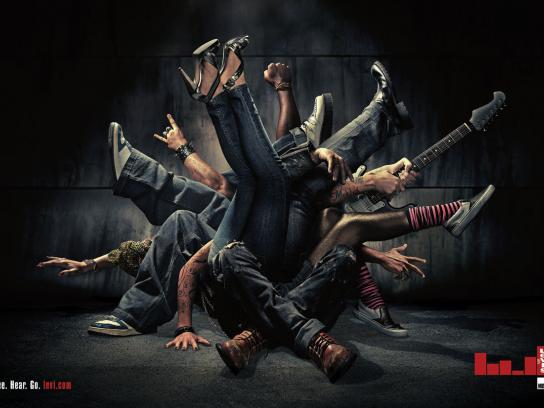 Levi's Print Ad -  Jeans and music