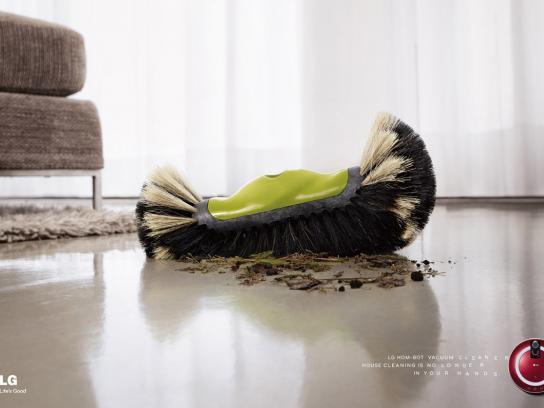 LG Print Ad -  Broom, 1