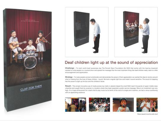 Rumah Siput Foundation Ambient Ad -  Clap activated light Box