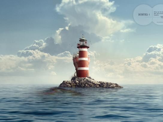 Surfrider Foundation Print Ad -  Lighthouse