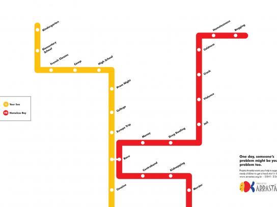 Projeto Arrastão Print Ad -  Lines, 1