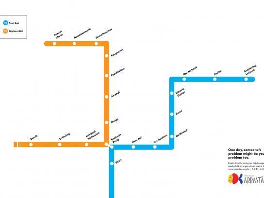 Projeto Arrastão Print Ad -  Lines, 2