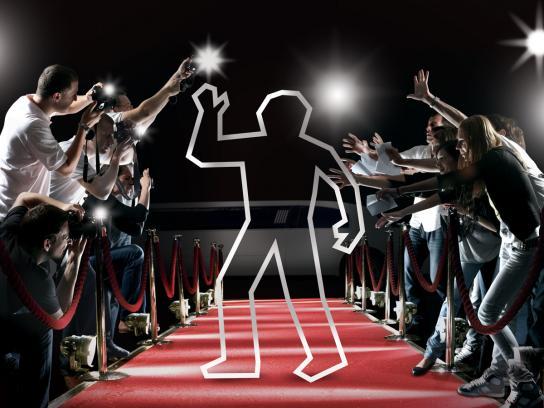 MTV Print Ad -  Line - Red carpet