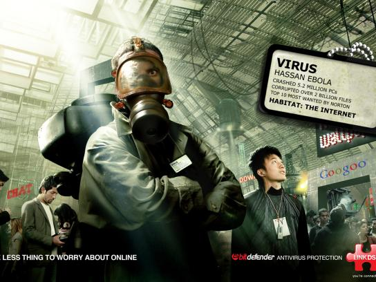 Link dsl Print Ad -  Virus