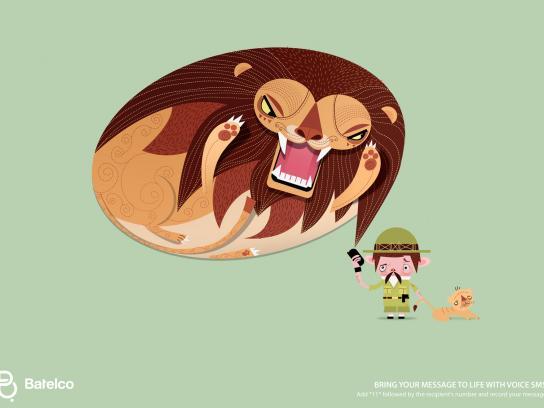Batelco Print Ad -  Bubbles, Lion