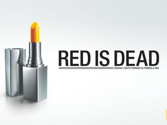 Renault Print Ad -  Red is Dead, Lipstick