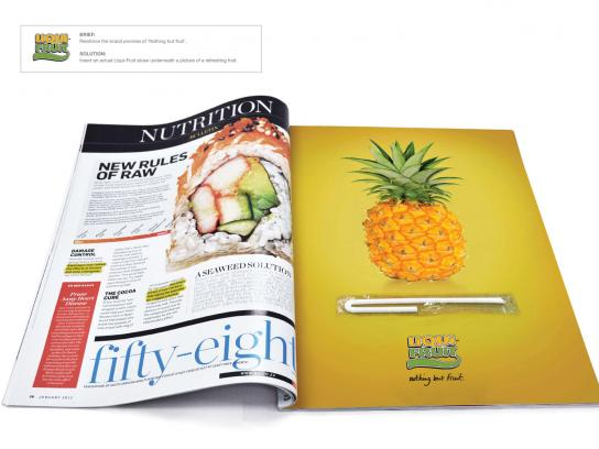Liqui-Fruit Print Ad -  Pineapple