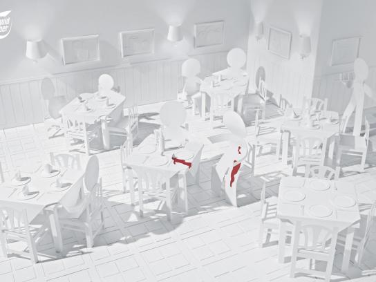 Liquid Paper Print Ad -  Restaurant
