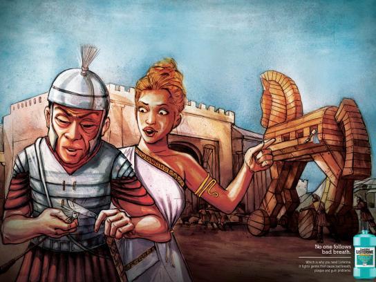 Listerine Print Ad -  Trojan Horse