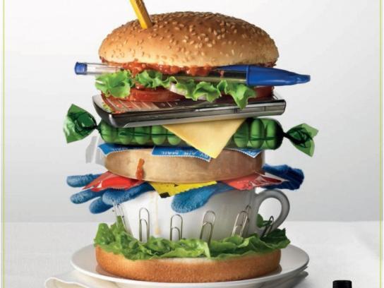 Listerine Print Ad -  Burger