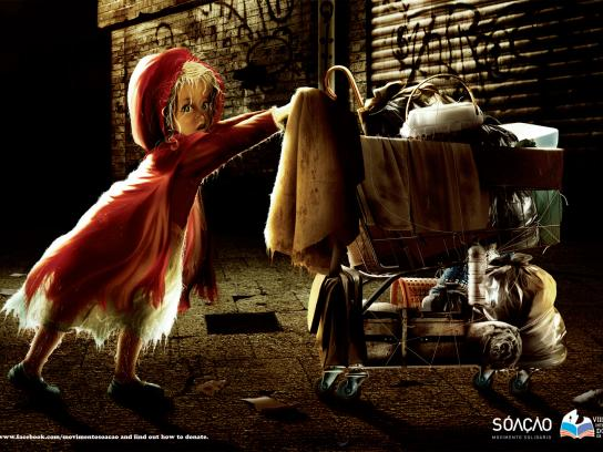 SÓ AÇÃO Print Ad -  Book Donation, Little Red Riding Hood